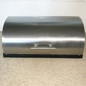 BREAD BOX Stainless Steele Black Bottom TARGET